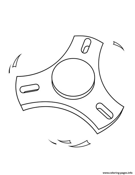Printable Fidget Spinner Coloring Pages