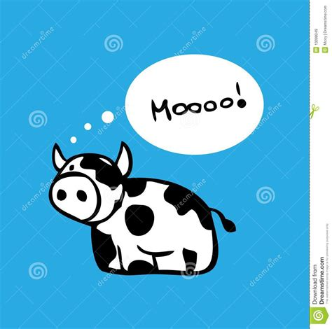 design poster cartoon cartoon cow card poster design stock illustration image