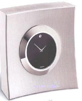 movado desk clock battery movado brushed aluminum retro clock
