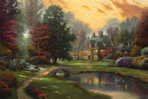 who is the painter of light lakeside manor limited edition the kinkade