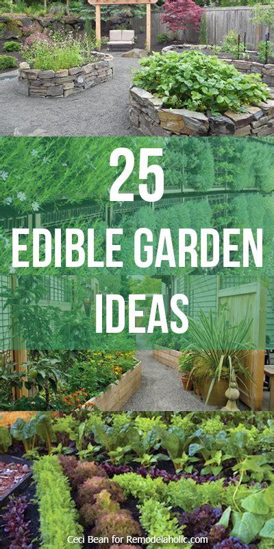remodelaholic  edible garden ideas