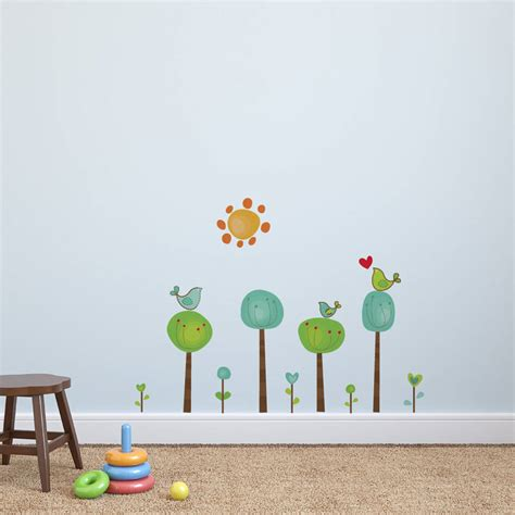 childrens tree wall stickers childrens bird tree wall stickers by parkins interiors