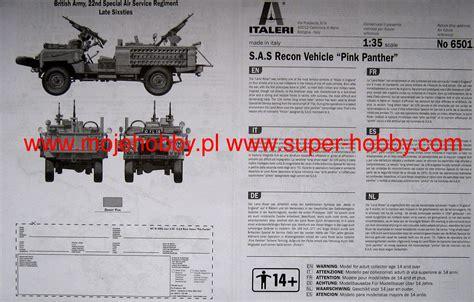 sas land land rover sas recon vehicle quot pink panther quot italeri 6501