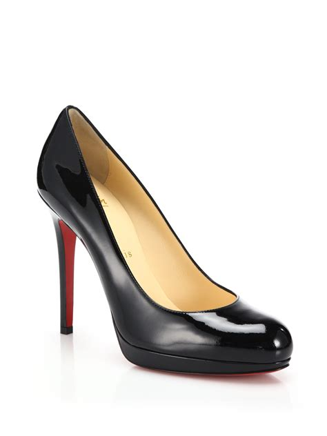 Patent Pumps christian louboutin new simple patent leather pumps in