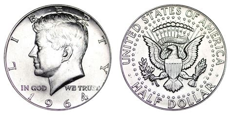 1964 d kennedy half dollars 90 silver composition value and prices
