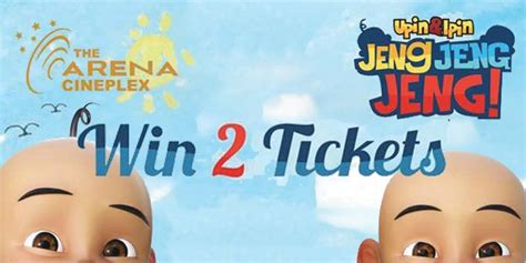 cineplex qlap win 2 upin ipin tickets at the arena cineplex promotion