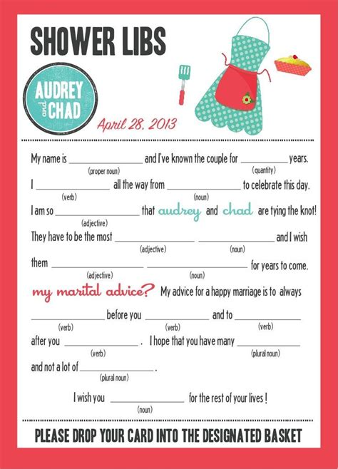 free printable bridal shower mad libs game mad libs bridal shower edition kitchen party 20 00