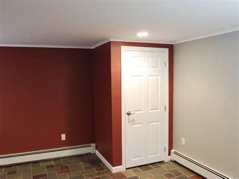 painted basement walls finished basement remodel renovation in wayne and montville nj