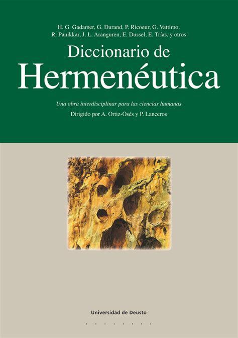 libros de hermeneutica une error en construcci 243 n