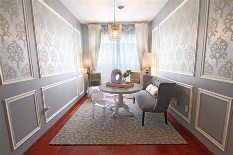 Wallpaper decorating ideas gallery in dining room transitional design