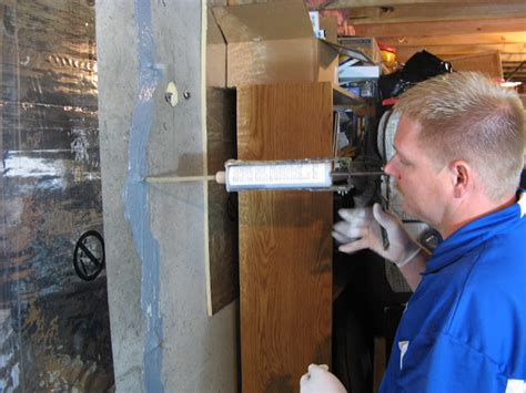 concrete basement wall repair kits stop leaks