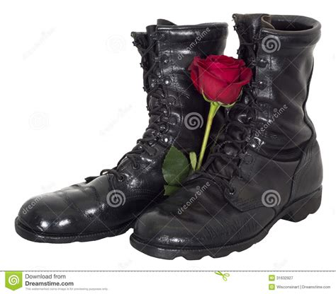 Sp Boot Flower White war and peace abstract concept isolated royalty free stock photography image 31632927