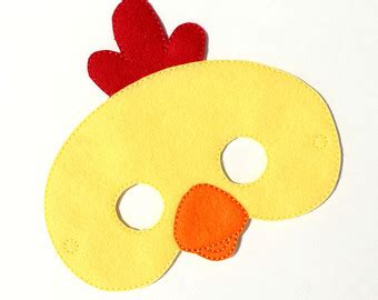 chicken mask etsy