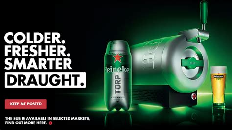 Heineken Features You As The by Marc Newson Designs The Sub A Draught Kit