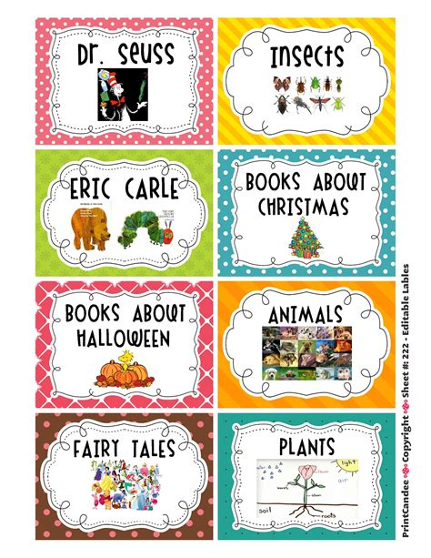 printable labels for kindergarten classroom kindergarten kapers july 2012