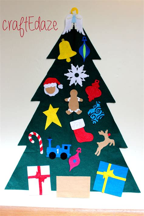 large children s felt christmas tree with storage bag