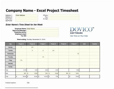 8 Excel Weekly Timesheet Template With Formulas Exceltemplates Exceltemplates Free Excel Timesheet Template With Formulas