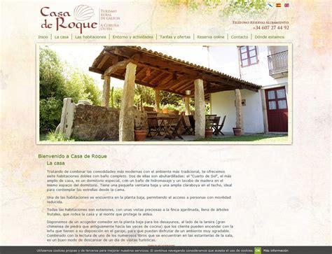 web casa trabajo de dise 241 o p 225 web para casa rural casa de roque