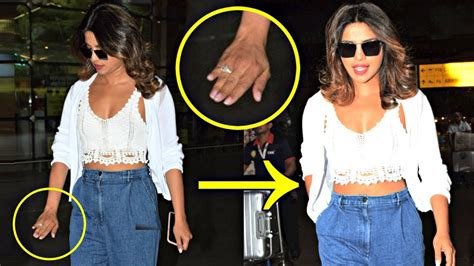 priyanka chopra hiding engagement ring priyanka chopra hiding her engagement ring from media