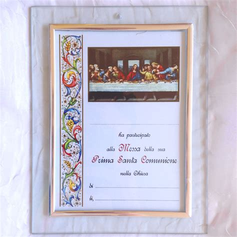 cornice per pergamena cornice vetro 20x15 portafoto o per pergamena 10x15 prima