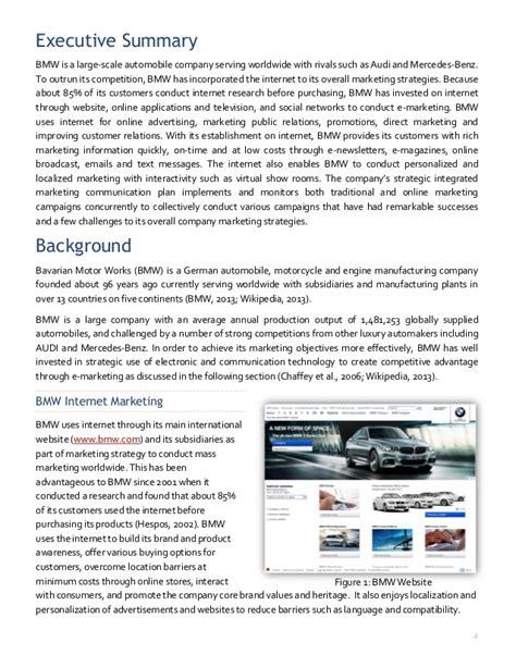 subsidiaries of bmw analysis of bmw e marketing strategies