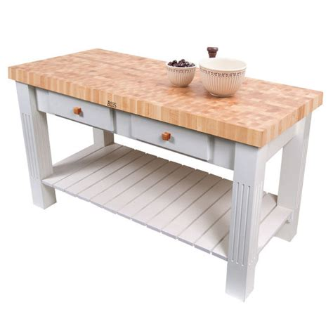 john boos kitchen islands grazzi kitchen island with butcher block end grain maple