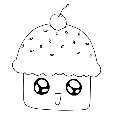 cute cupcake coloring pages with faces coloring pages