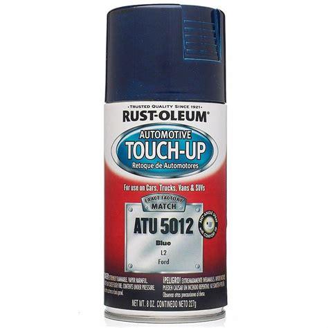 home depot paint touch up rust oleum automotive 8 oz blue auto touch up spray 6