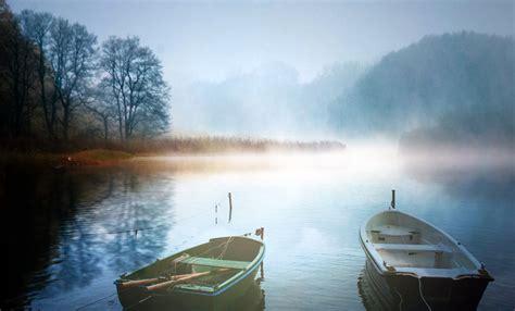 landscapes   fog ducks scotland night city  boat