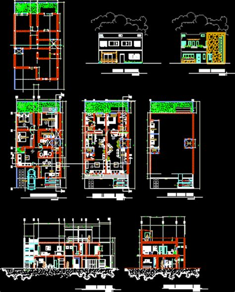 family housing levels dwg block autocad designs cad
