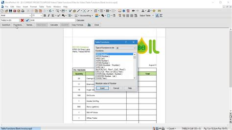 Wordperfect Spreadsheet by Automatic Calculations In Wordperfect Tables Corel