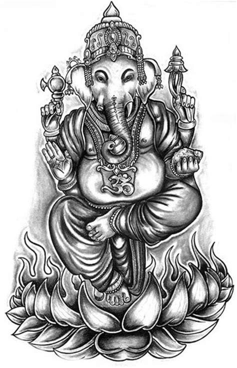 ganesha tattoo black and white 28 ganesha on lotus tattoo