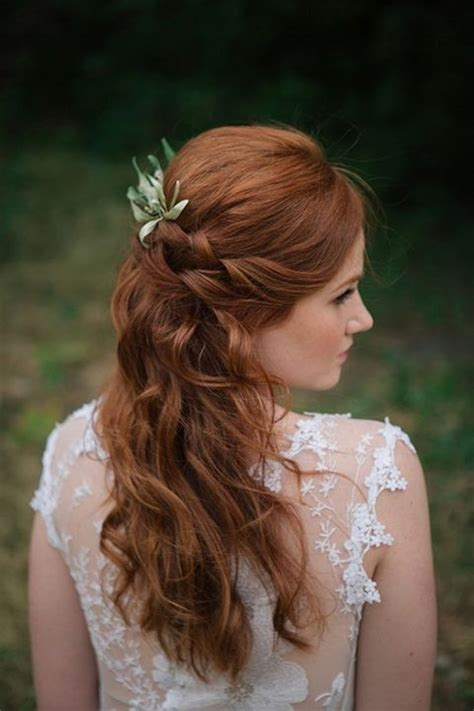 bridal hairstyles for red hair 35 beautiful fall wedding hairstyles happywedd com