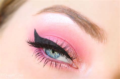 Eyeshadow Pink winged eyeliner with pink eyeshadow pictures photos and images for
