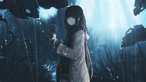anime girl in the rain wallpaper rain of emotion by aditalfian on deviantart