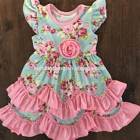 baby dress design video 2017 newest design posh dress girl vintage girl flutter