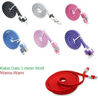 Dijamin Kabel Data Warna Warni Micro Usb Charger Bb Samsung kabel data usb micro usb 3 meter warna rosy laptop malang