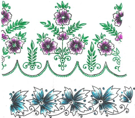 flower pattern for painting free hand embroidery flowers patterns saree and table