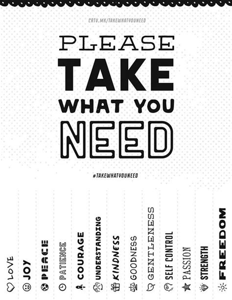 what can you give a for take what you need give what you can the project