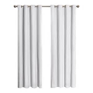 White Out Curtains Eclipse Cassidy Blackout White Polyester Grommet Curtain Panel 95 In Length 12423052095whi