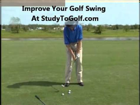 slow motion golf swing from behind perfect golf swing slow motion youtube