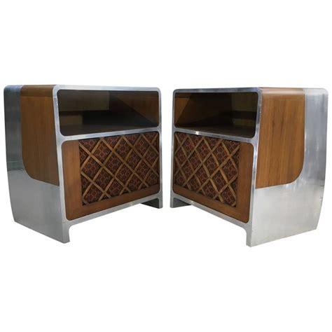 age console custom space age bauhaus teak and aluminium stereo console