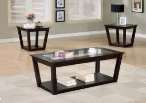 complete coffee companion with coffee and end table sets