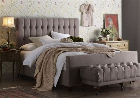 chelsea bed linen chelsea bedhead with fully upholstered bed base in vintage