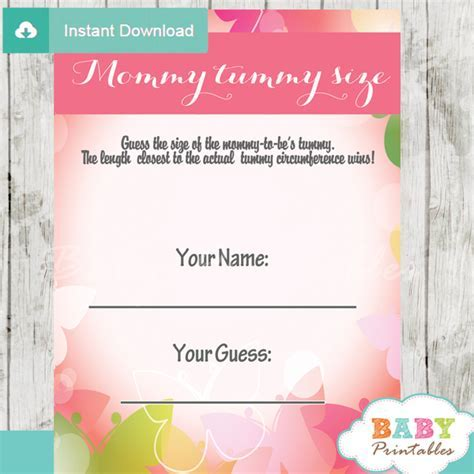 Spring Bokeh Butterfly Baby Shower Games   D236   Baby Printables