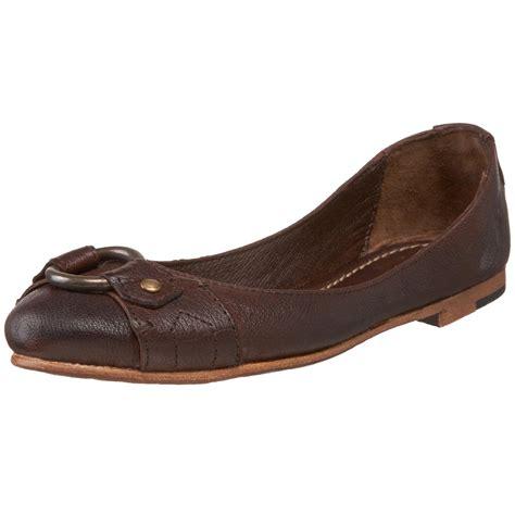 brown flat shoes womens frye frye womens carson harness ballet flat in brown
