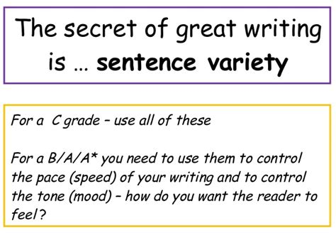 the simple secrets of sentence variety sentence variety poster