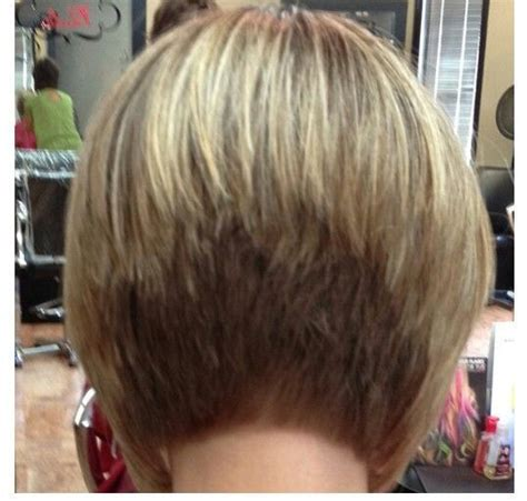 wedge haircut with stacked back stacked bob hairstyles back view stacked bob back view