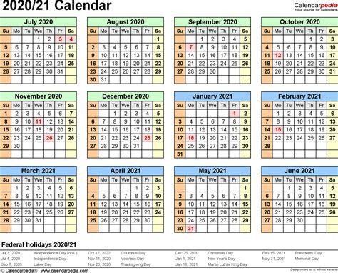 split year calendars  july  june  templates