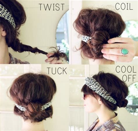 easy hairstyles headband 20 easy and sassy diy hairstyle tutorials pretty designs